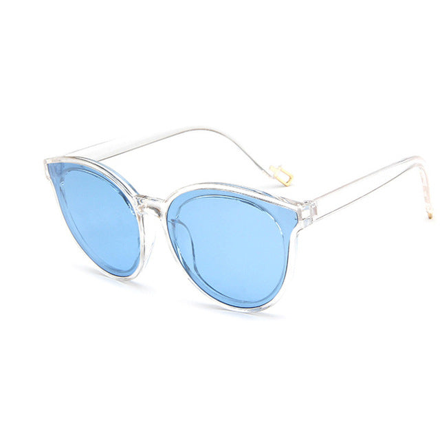 Fashion Women Sunglasses Cat Eye Shades Luxury Brand Designer Sun Glasses Integrated Eyewear Candy Color UV400