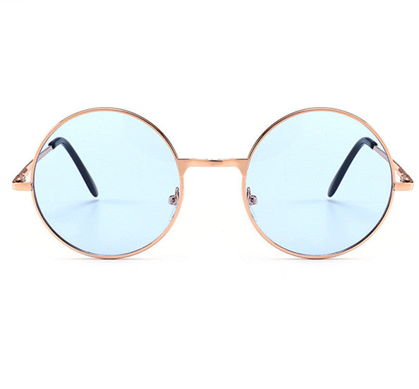 UVLAIK Pink Sunglasses Harry Potter Hippie Women Men Round Metal Glasses Female Male Sun Glasses Goggles