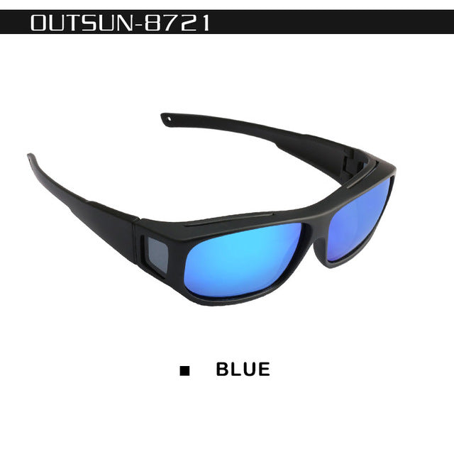 b5fcb0a42a14 OUTSUN Polarized Fit Over Sunglasses Fishing Sun Glasses Men Women  LensCovers glasses Wear Over Prescription Glasses
