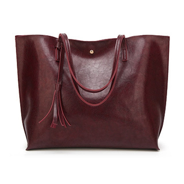 Tote Bag Large Women's Leather Handbags High Quality Female Pu Leather Bag Fashion Lady Shoulder Bags Classic Handbag|Shoulder Bags