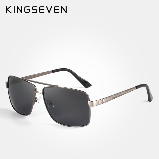 KINGSEVEN Mens Classic Polarized Sunglasses Men Women Fashion Brand Designer Vintage Square Driving Sun Glasses For Male N7712