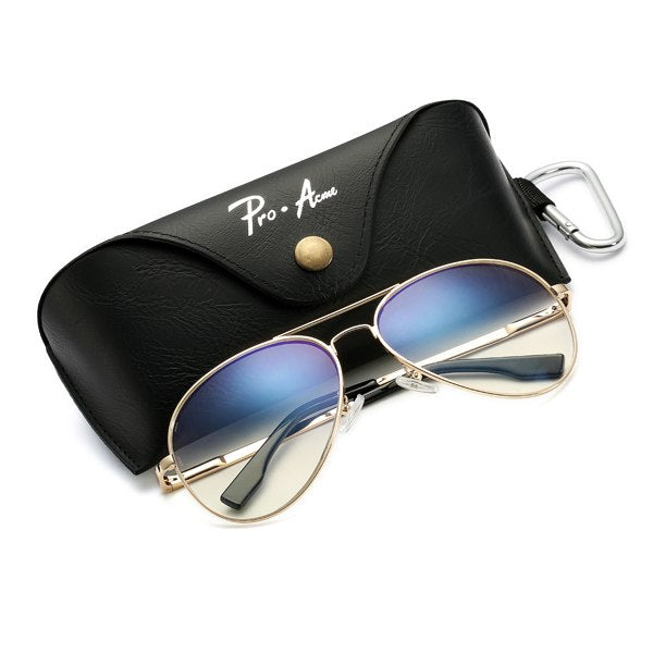Pro Acme Large Metal Polarized Sunglasses Men/Women Classic Pilot Driving Sun Glasses Twin-Beams Frame with Case PA1052