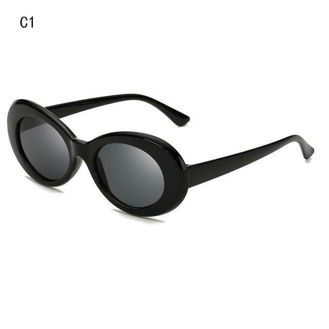 d4356019bdcc0 Qigge Popular Fashion Style Oval Sunglasses Women Classic Retro Round Frame  White Mens Sun Glasses Red