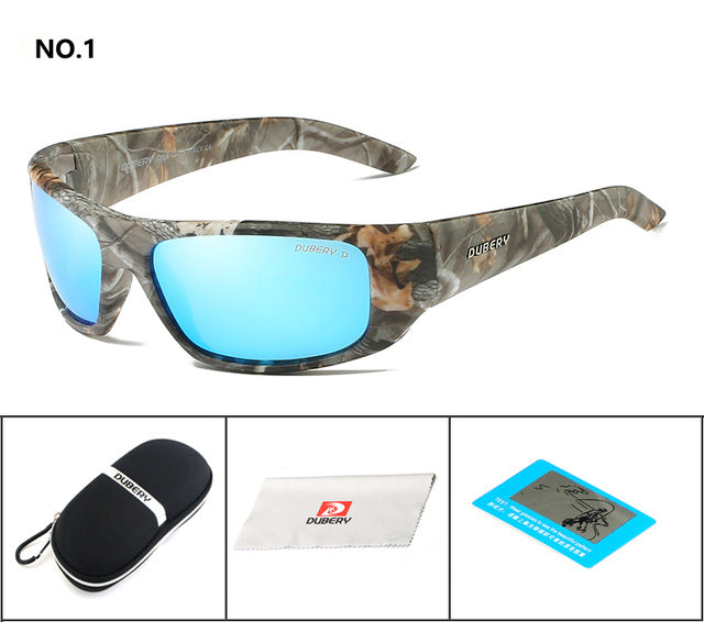 DUBERY Polarized Sunglasses Men's Retro Male Goggle Colorful Sun Glasses For Men Fashion Brand Luxury Mirror Shades Cool Oculos