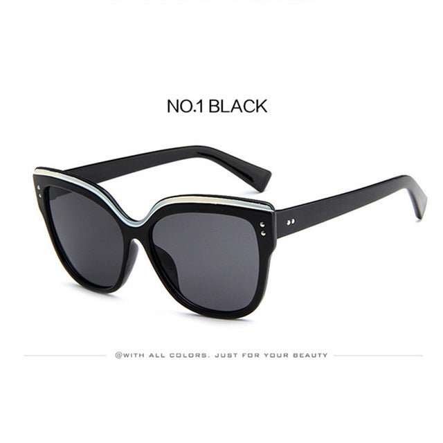 CatEye Sunglasses Women Luxury Brand Designer Plastic Sun Glasses Classic Retro Outdoor Retro Reflection Oculos De Sol Gafas