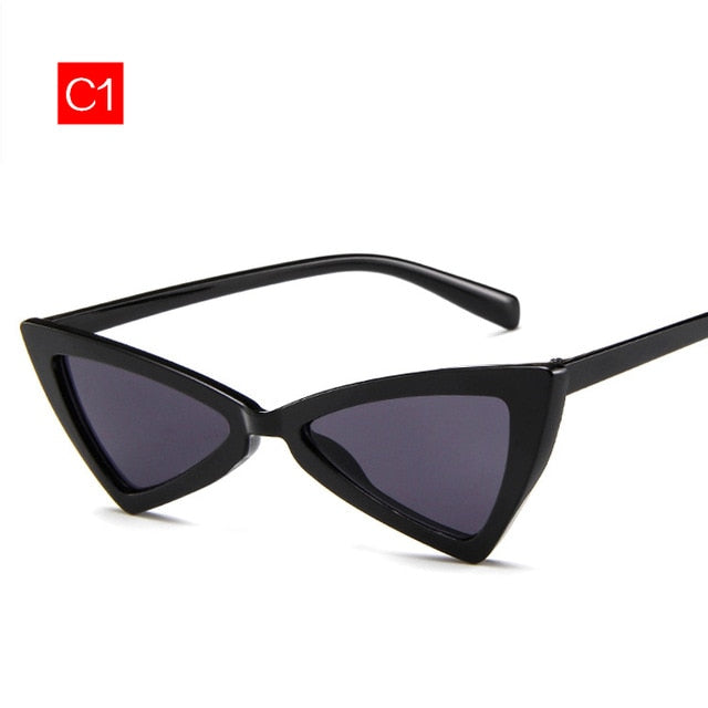 5d826f3429933 Imwete Cat Eye Sunglasses Women Vintage Brand Designer Female Triangle  Butterfly Sun Glasses Retro Small Size