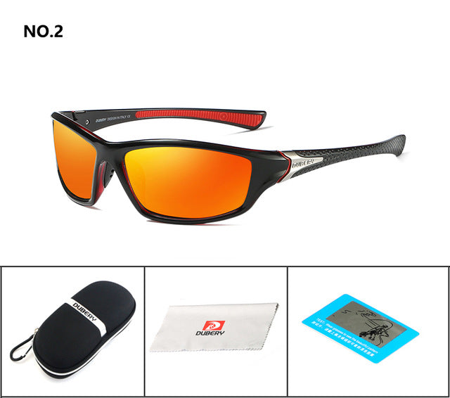 DUBERY Polarized Night Vision Sunglasses Men's Driving Sun Glasses For Men Square Sport Brand Luxury Goggles Shades Oculos