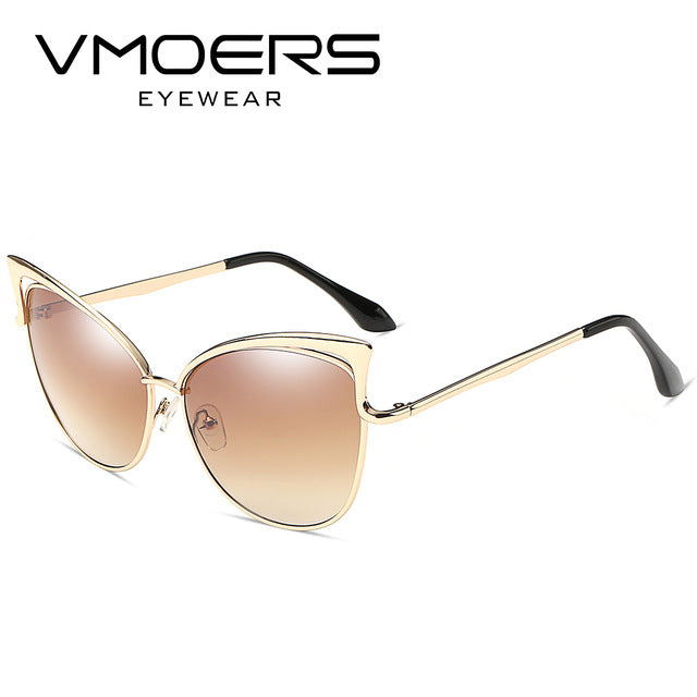 VMOERS Female Luxury Cat Eye Sunglasses Women Pink Mirror Oculos de sol feminino Cateye Sun Glasses For Women Brand Shades
