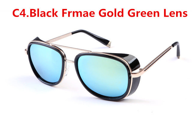 IRON MAN 3 Matsuda Steampunk Sunglasses Women Vintage Brand Mirror Sun glasses men Sunglasses Oculos Tony Stark Sunglasses