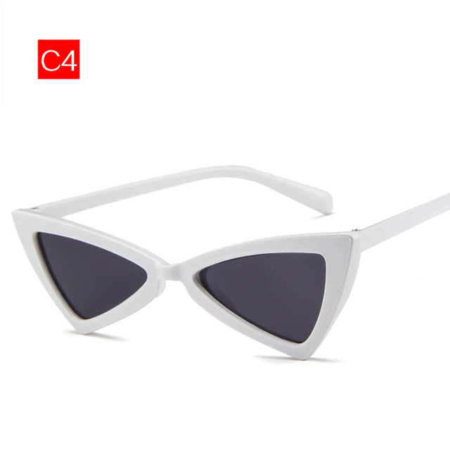 Imwete Cat Eye Sunglasses Women Vintage Brand Designer Female Triangle Butterfly Sun Glasses Retro Small Size Glasses Ladies