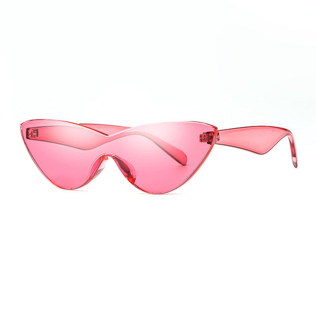 HOKU Candy Colors Eye Cat Sunglasses Women Cat Eye New Sexy Sun Glasses Brand Designer Fashion Female Eyewear oculos glasses