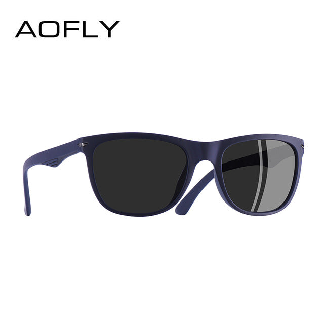 AOFLY BRAND DESGIAN Fashion Sunglasses Men Square TR90 Frame Polarized Sun Glasses Male Outdoor Sports Shades AF8081