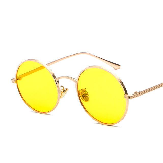 Pop Age Newest Round Sunglasses Women Men Arm Green Mirror Sun glasses Male Vintage Eyeglasses Oculos de sol 400UV
