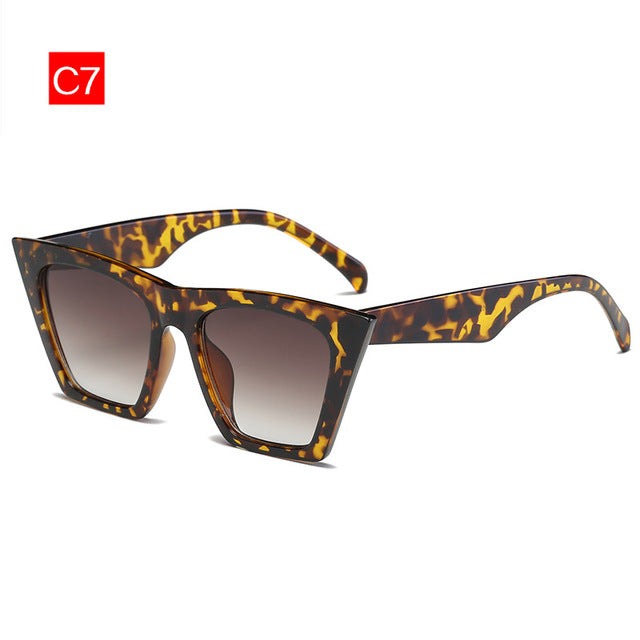 Kaleidoscope Glasses Flat top Cat eye Sunglasses Women Brand Retro Sunglass Man Rectangle Eyewear Female Goggles Sun Glasses