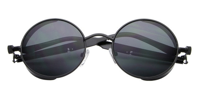Hot New Vintage Round Metal Steampunk Sunglass Women Brand Designer Metal Carving Sun Glasses Driving Men