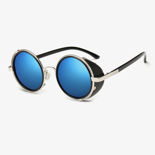 new IRON MAN 3 TONY STARK Sunglasses steampunk Men Mirrored steam punk Glasses Vintage Sun glasses oculos de sol masculino