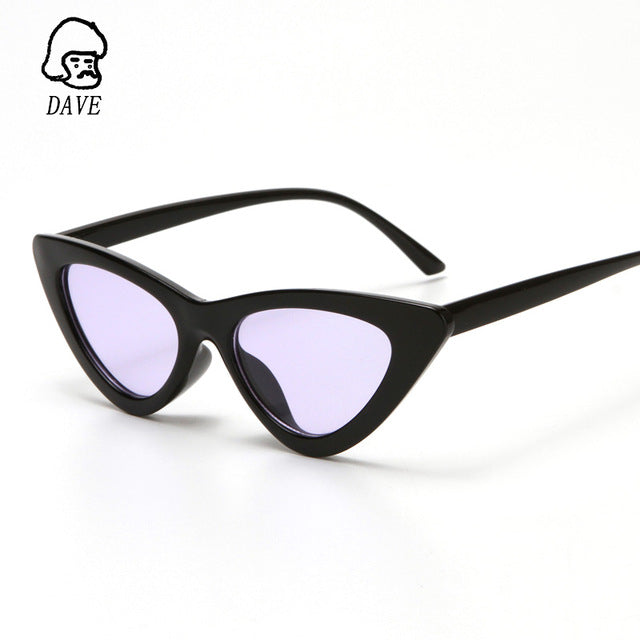DAVE Cat Eye Sunglasses Women Cute Sexy Retro Sunglass Triangl Hot Sale Fashion Lady Sun Glasses For Men Vintage Designer frame