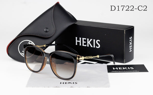HEKIS Ray New Classic Fashion Women Frame Lady Sun Glasses Eyewear Women's Sunglasses D1722
