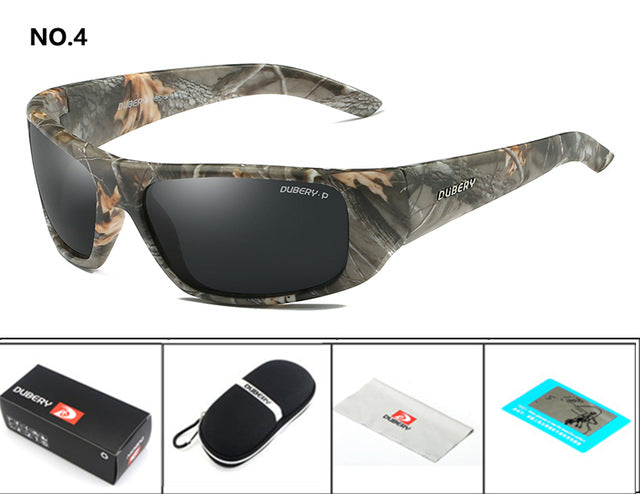 DUBERY Male Sun Glasses Men's Polarized Sunglasses Aviation Driving Shades Men Retro Sport gafas de sol de los hombres