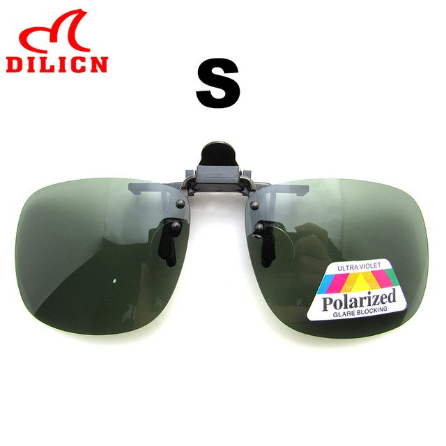 DILICN Polarized Clip On Sunglasses Men Polaroid Lens Rimless Clip Sun Glasses Women Square Clip On Driving Glasses UV400 Oculos