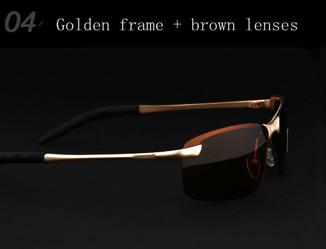VEITHDIA Brand Designer Polarized Men's Sunglasses Rimless Sun Glasses Goggle Eyewear For Men gafas oculos de sol masculino 3043