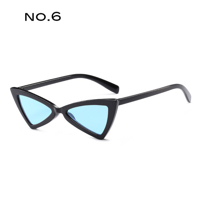 TAOTAOQI Fashion Plastic Frame Personality Cat Eye Sunglasses Women Designer Luxury High Quality Triangular Sun Glasses UV400