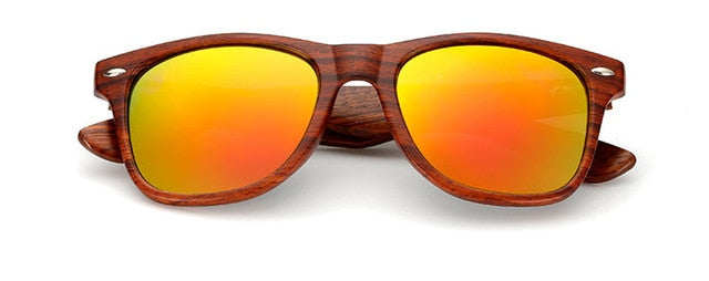 Ralferty Walnut Wood Sunglasses Men Women Mirror Sun Glasses Male UV400 Plastic Wooden Sunglass Shades Oculos High Quality 1530