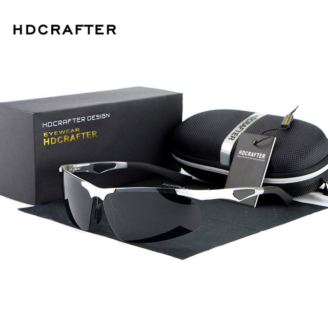 HDCRAFTER Mens Sport Polarized Sunglasses Men Outdoor Sun Glasses Fishing Retro Male Driving Vintage Eyewears Accessories Oculos
