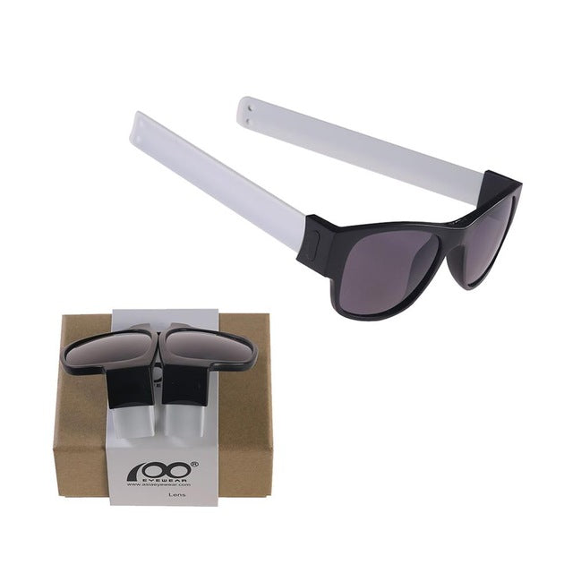High Quality Patent Slap Folding Polarized Sunglasses with Case Protable Foldable Sport Holder Sun Glasses