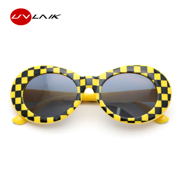 6806cbb9ff2f2 UVLAIK NIRVANA Kurt Cobain Glasses Round Clout Goggles Sunglasses For Women  Men Mirrored Glasses Retro Female