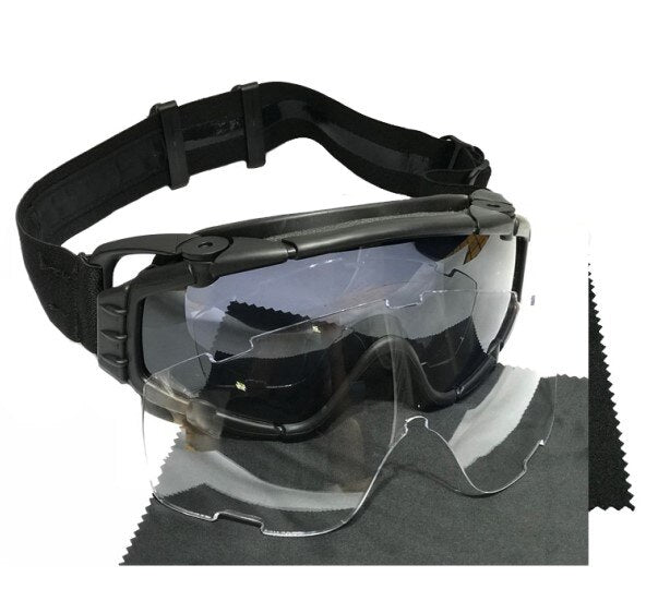 TAK YIYING Tactical Ballistic Anti fog Goggles with Fan Anti dust Outdoor Airsoft Paintball Helmet Goggles