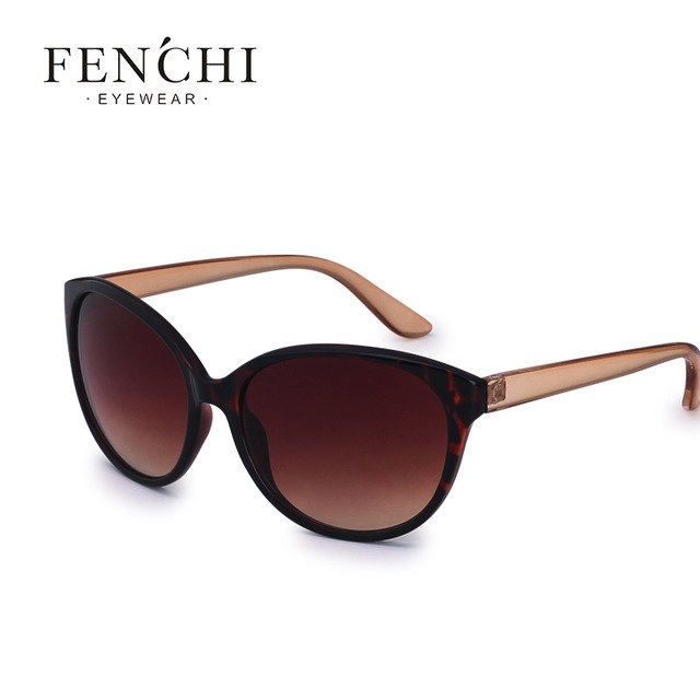FENCHI New Sunglasses Women Brand Designer cat eye Sunglasses Driving Fshion Sun glasses