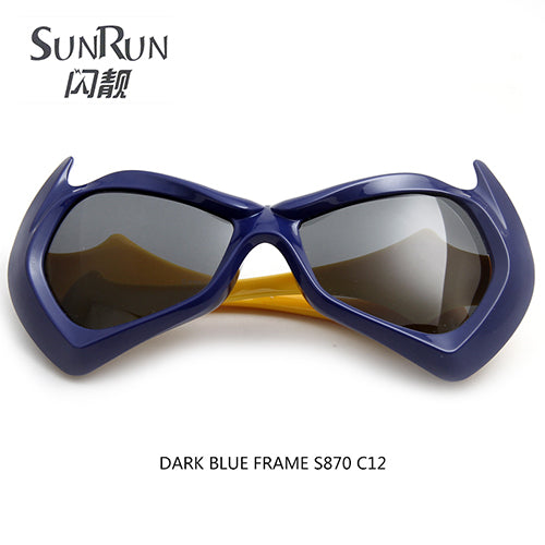 SUNRUN Fashion Kids Polarized Sunglasses Cute Bat Boy TR90 Frame Children Sun Glasses Cool Eyewear Goggles S870