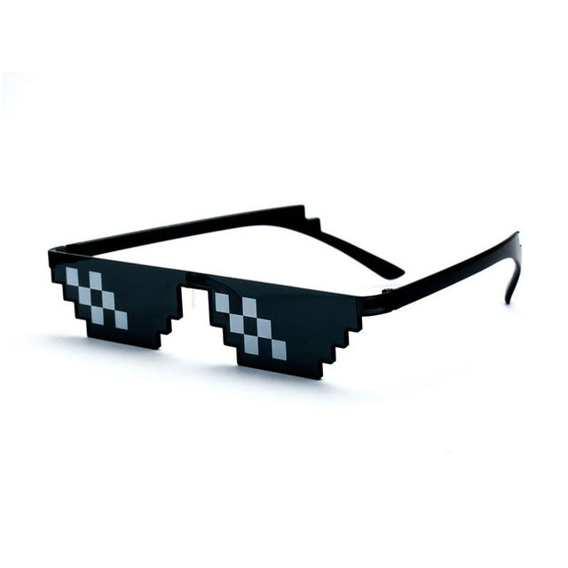 Deal With It Sunglasses Men Thug Life Glasses Women Hot Sell Plus Size Minecraft Polygonal 8 Bits Style Pixel With Nose Pad