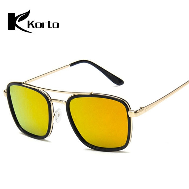 Lunette De Soleil Homme Men Tony Stark Pilot Sunglasses Women Aviation Eyeglasses Iron Man Tinted Lens Robert Downey JR Glasses