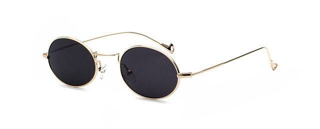 Peekaboo small oval sunglasses men retro metal frame black pink yellow blue red sun glasses for women uv400