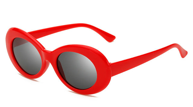 Peekaboo cheap plastic sunglasses oval men male red white sun glasses for women retro black uv400