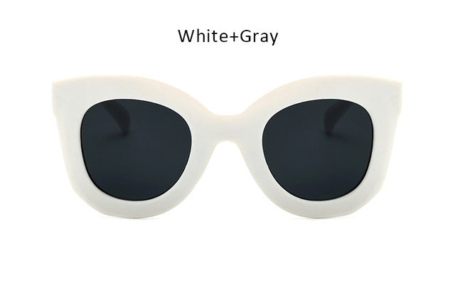 TSHING RAY New Fashion Cat Eye Sunglasses Women Vintage Brand Designer Rivet Shades Sun Glasses For Female Big Frame Eyewear