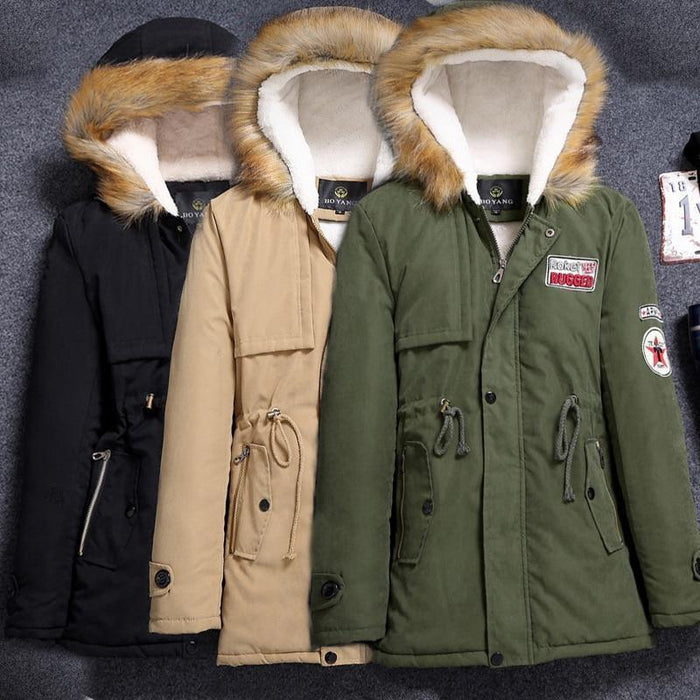 Winter Coat Men Hot Fashion Hooded Mens Winter Jackets Thick Parka Casual Warm Green Black-Parkas-diecaprle Official Store-S-EpicWorldStore.com