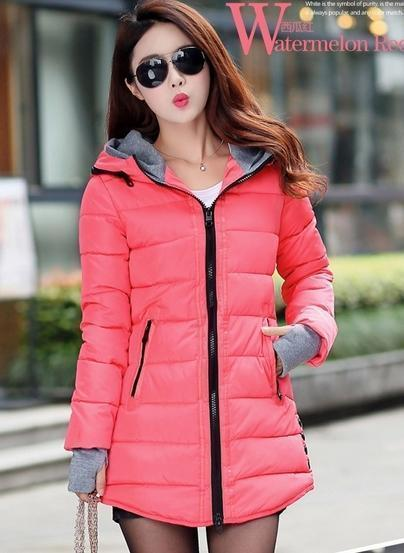 Winter Jacket Women Winter And Autumn Wear High Quality Parkas Winter Jackets Outwear Women-Jackets & Coats-Large Size Men Women Clothes Store-melon red-S-MostlyShades.com