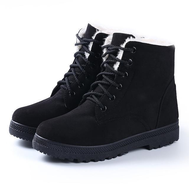 Women Boots Women Winter Boots Warm Snow Boots Platform Shoes Women-Women's Boots-Best Product Best Show-Black1-4.5-MostlyShades.com