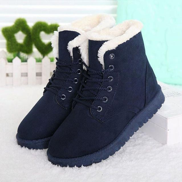 Women Boots Women Winter Boots Warm Snow Boots Platform Shoes Women-Women's Boots-Best Product Best Show-Blue2-4.5-MostlyShades.com