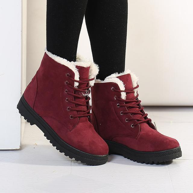 Women Boots Women Winter Boots Warm Snow Boots Platform Shoes Women-Women's Boots-Best Product Best Show-Purple-4.5-MostlyShades.com