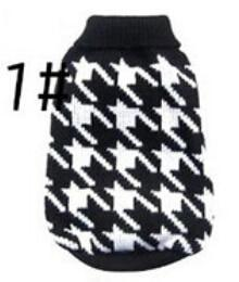 Xs Xxl Hot Cheap New Dog Sweater Pet Sweater Various Colors Dog Knitted Coat For Small Dogs-Dog Sweaters-Petalk Store-1 Black Houndstooth-XS chest28cm Back17-EpicWorldStore.com