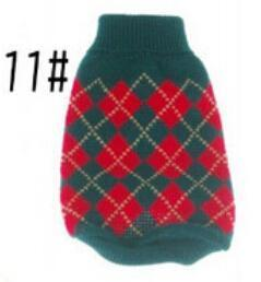 Xs Xxl Hot Cheap New Dog Sweater Pet Sweater Various Colors Dog Knitted Coat For Small Dogs-Dog Sweaters-Petalk Store-11 Dark Greed Plaid-XS chest28cm Back17-EpicWorldStore.com
