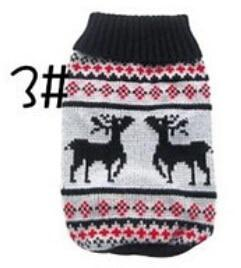 Xs Xxl Hot Cheap New Dog Sweater Pet Sweater Various Colors Dog Knitted Coat For Small Dogs-Dog Sweaters-Petalk Store-3 Black deer-XS chest28cm Back17-EpicWorldStore.com