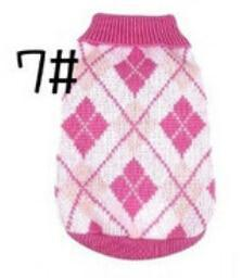 Xs Xxl Hot Cheap New Dog Sweater Pet Sweater Various Colors Dog Knitted Coat For Small Dogs-Dog Sweaters-Petalk Store-7 Pink Plaid-XS chest28cm Back17-EpicWorldStore.com