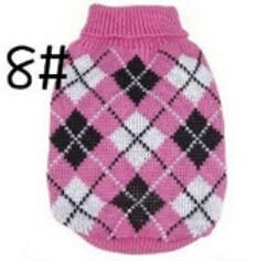 Xs Xxl Hot Cheap New Dog Sweater Pet Sweater Various Colors Dog Knitted Coat For Small Dogs-Dog Sweaters-Petalk Store-8 Plum Plaid-XS chest28cm Back17-EpicWorldStore.com