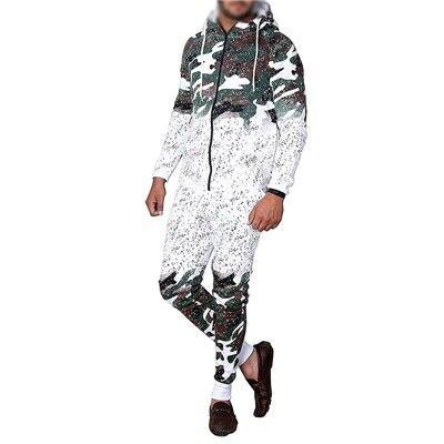 Zogaa Mens Tracksuits Casual Camouflage Fashion Sportswear Men Outfits 2 Piece Set Zipper Hoodies-Men's Sets-ZoggaFashion Store-white army green-M-EpicWorldStore.com