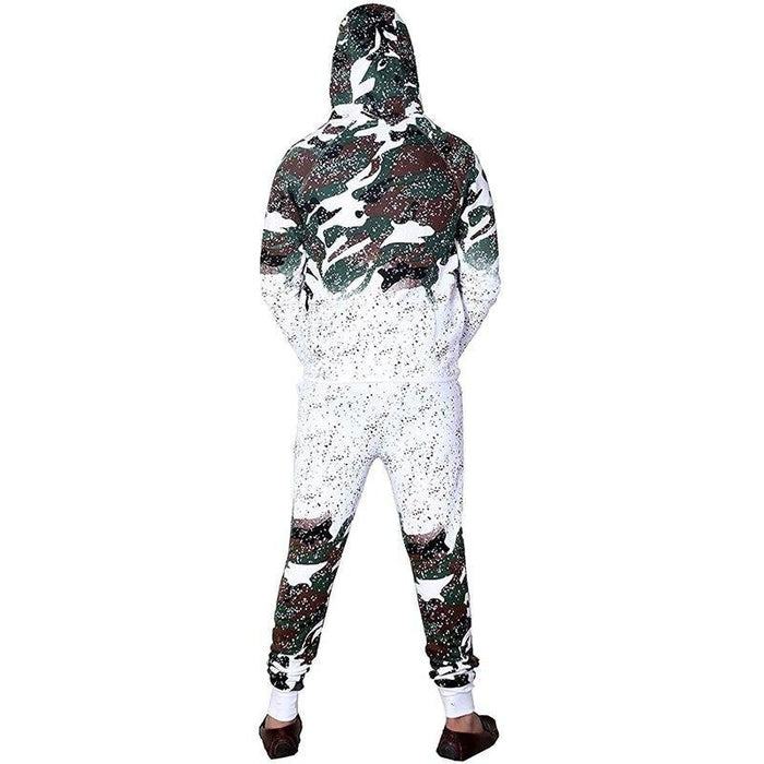 Zogaa Mens Tracksuits Casual Camouflage Fashion Sportswear Men Outfits 2 Piece Set Zipper Hoodies-Men's Sets-ZoggaFashion Store-white black-M-EpicWorldStore.com